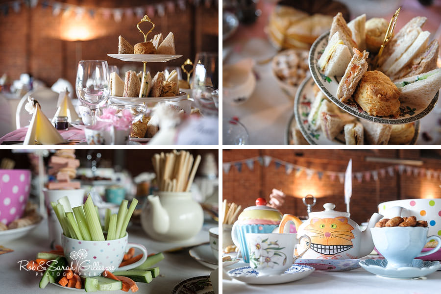vintage high tea at avoncroft wedding reception