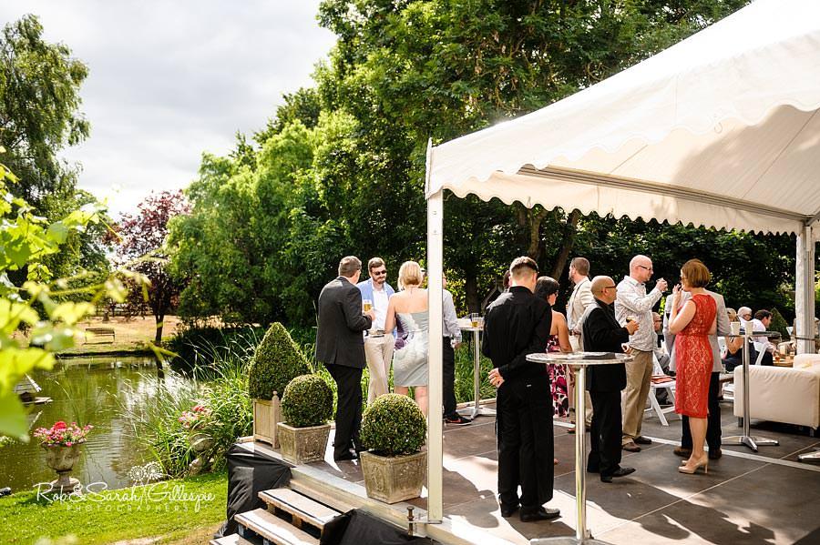 wedding reception in garden marquee summer
