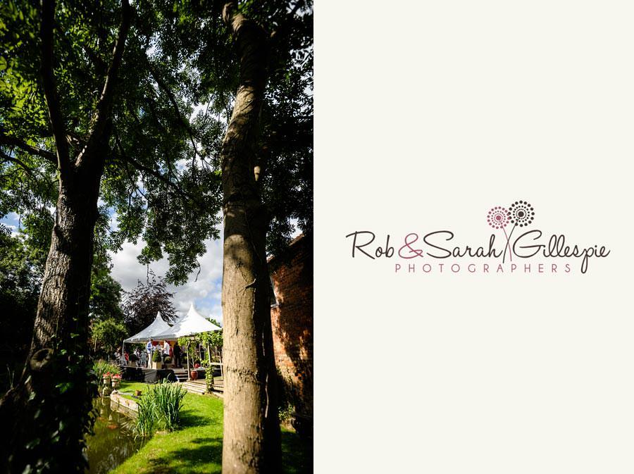 marquee in beautiful garden for wedding reception