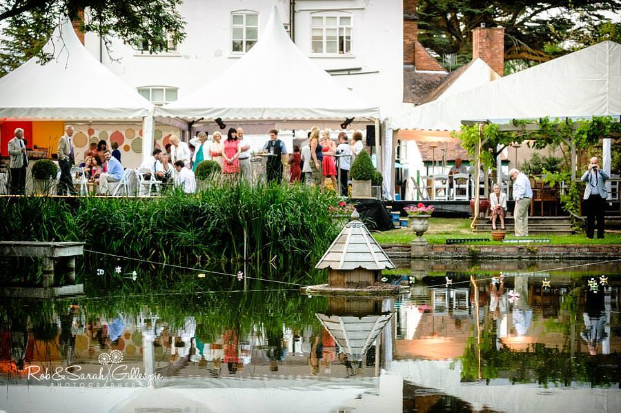 marquee wedding reception in garden