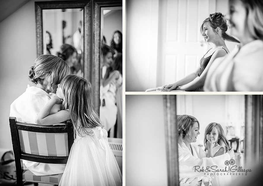 candid images of bridal preparations