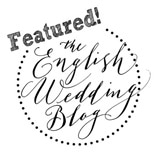 Lori and Tom's wedding featured on English Wedding Blog!
