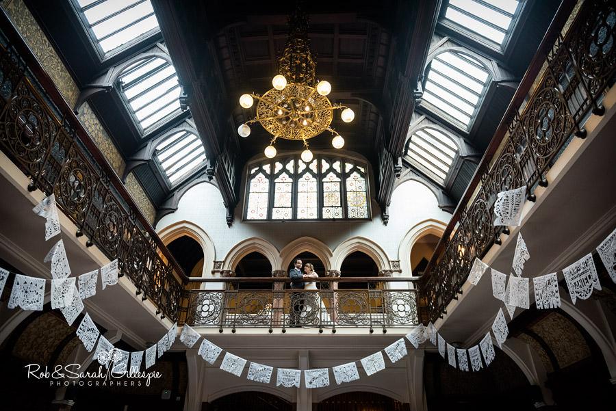 Bride and groom at Higbury Hall