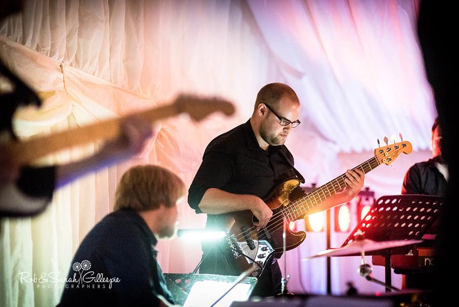 Musicians play during Malvern College wedding