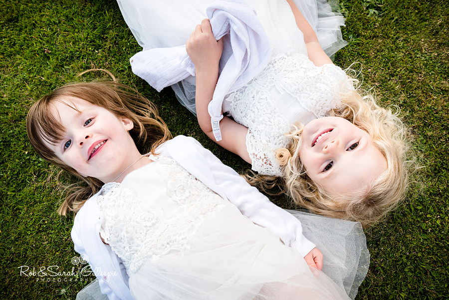 Flower girls at Delbury Hall wedding