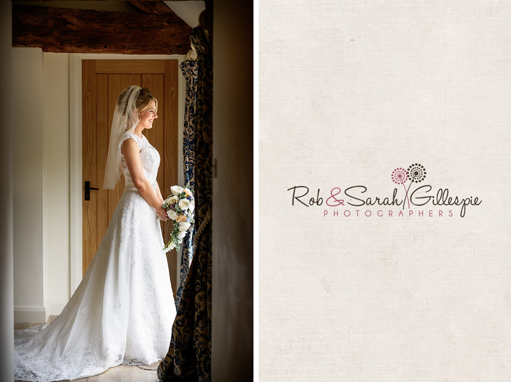 Portrait of bride in window light at Gorcott Hall