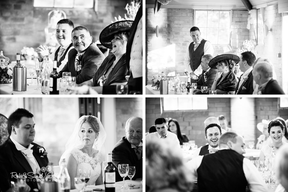 Gorcott Hall wedding reception - speeches