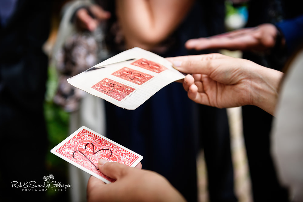 Magician entertains wedding guests at Matara Centre