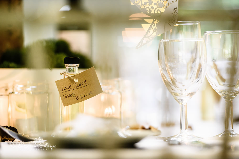 Wedding table details at Matara Centre