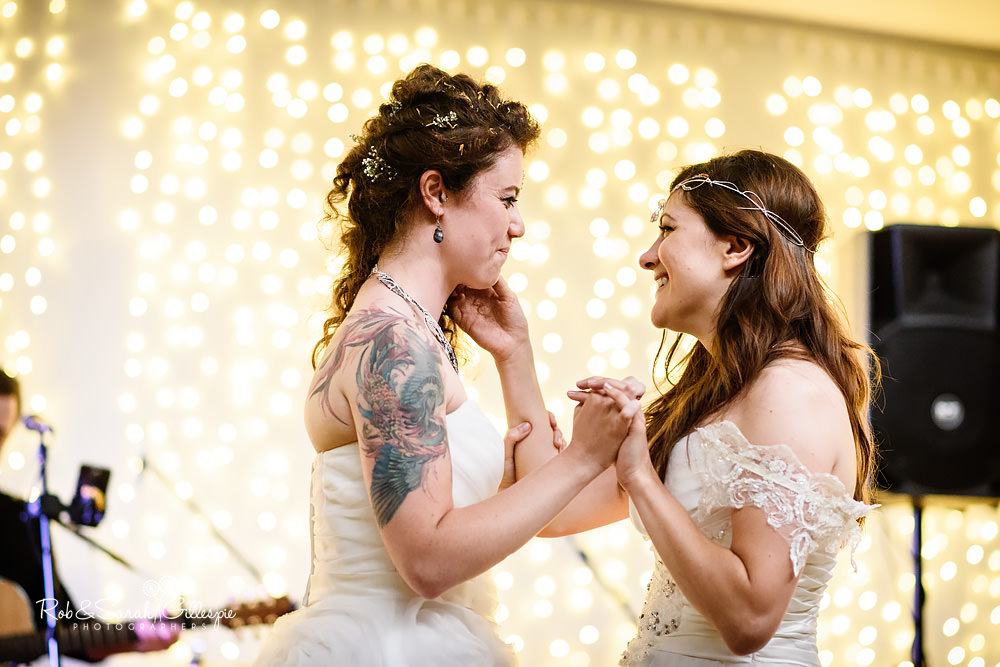 Brides first dance at Matara Centre same-sex wedding