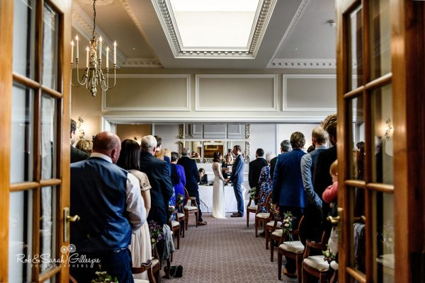 Wedding ceremony at Brockencote Hall