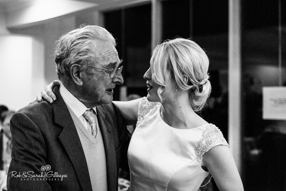 Wedding speeches at Delbury Hall Coach House