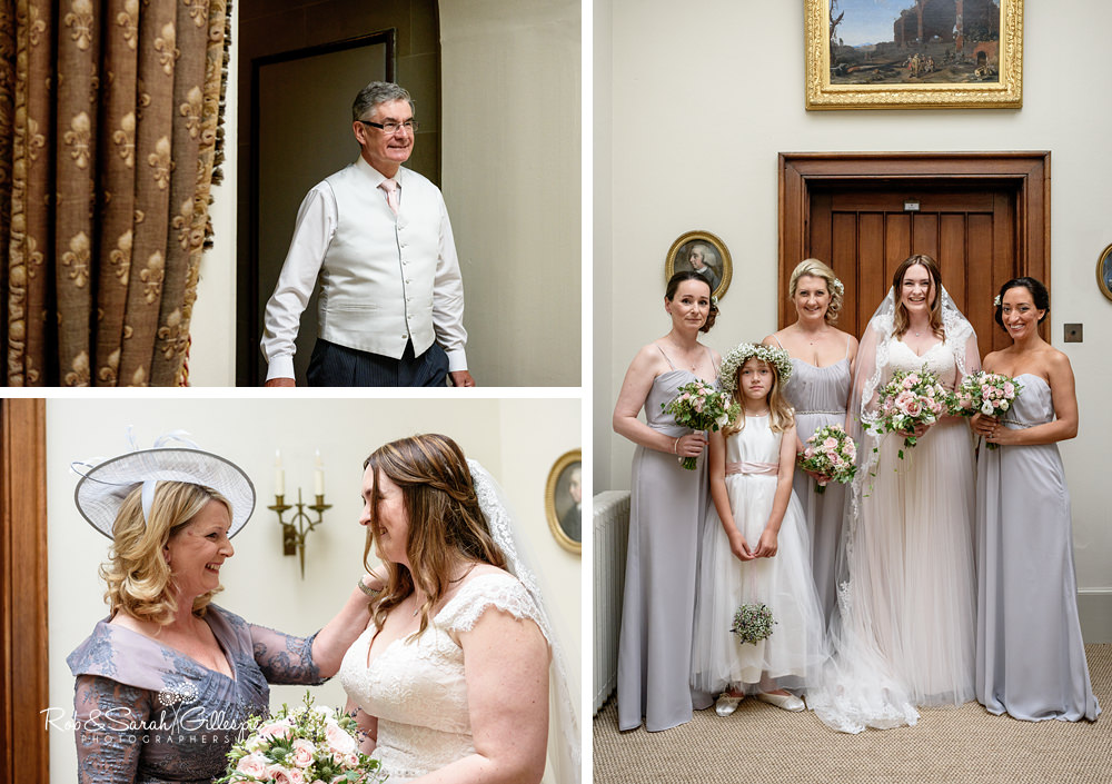 Bride and bridesmaids at Eastnor Castle