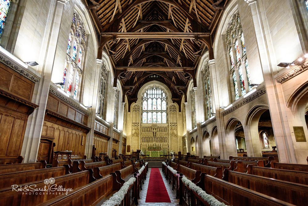 Interior of chapel at Malvern College