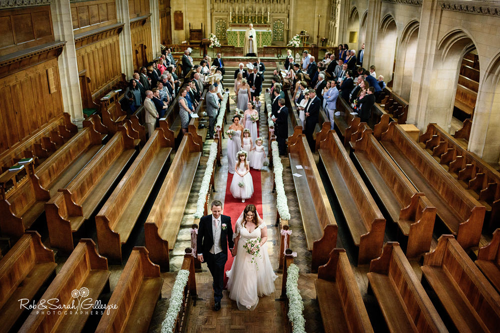 Wedding service held in Malvern College chapel