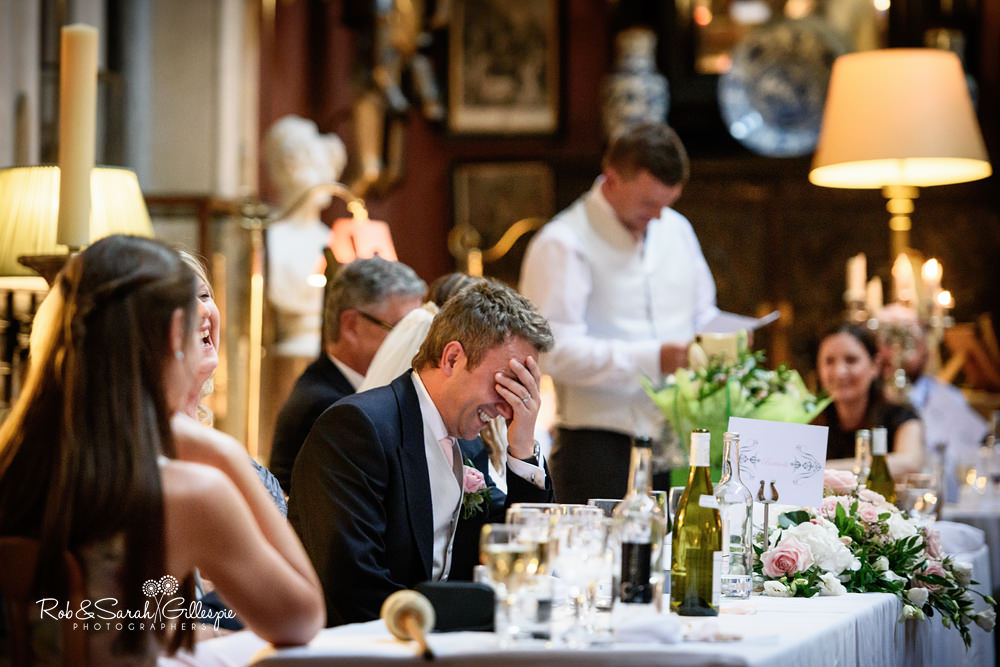 Wedding breakfast and speeches at Eastnor Castle
