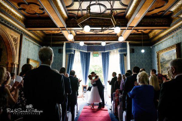 Civil wedding ceremony ay Higbury Hall