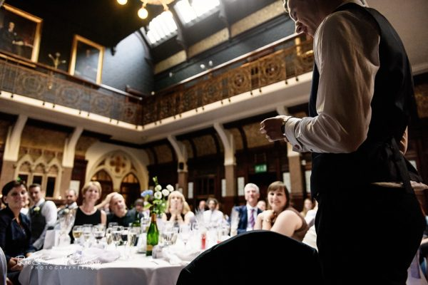 Wedding speeches at Highbury Hall