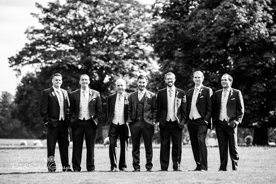 Groom and male bridal party
