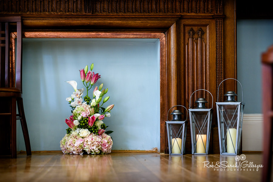 Beautiful flower display in Morning Room at Pendrell Hall