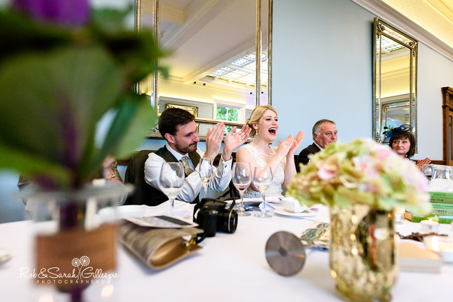 Wedding speeches at Pendrell Hall