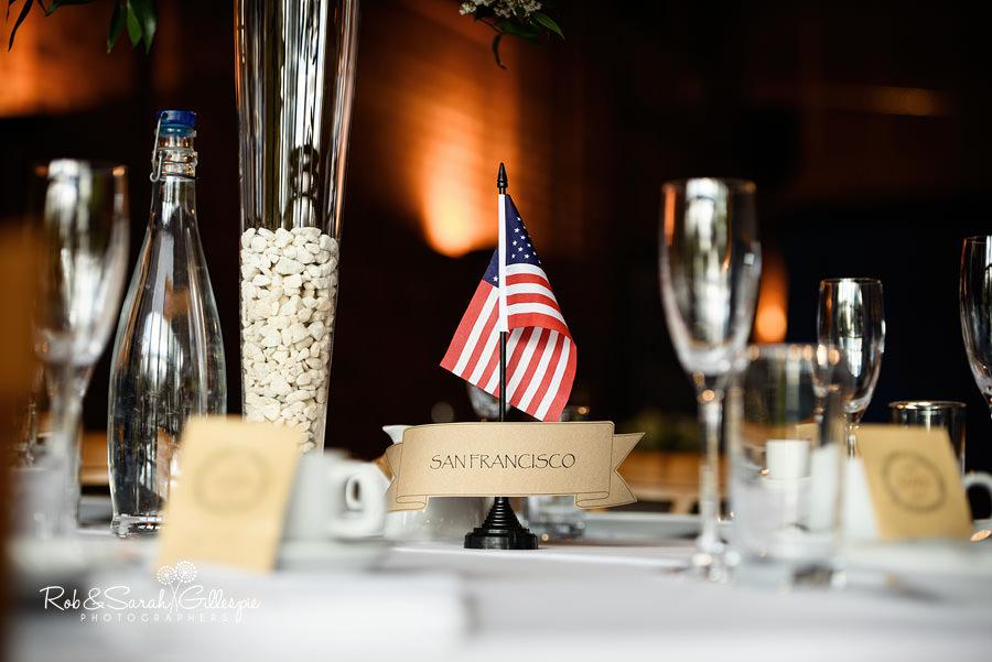 Wedding breakfast table details