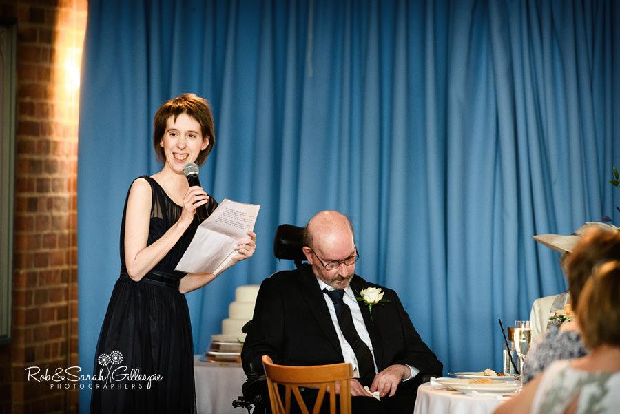 Wedding speeches at Avoncroft Museum