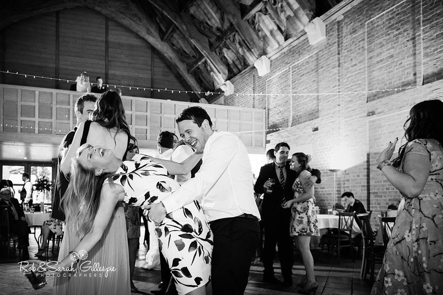 Wedding guests dancing at Avoncroft Museum