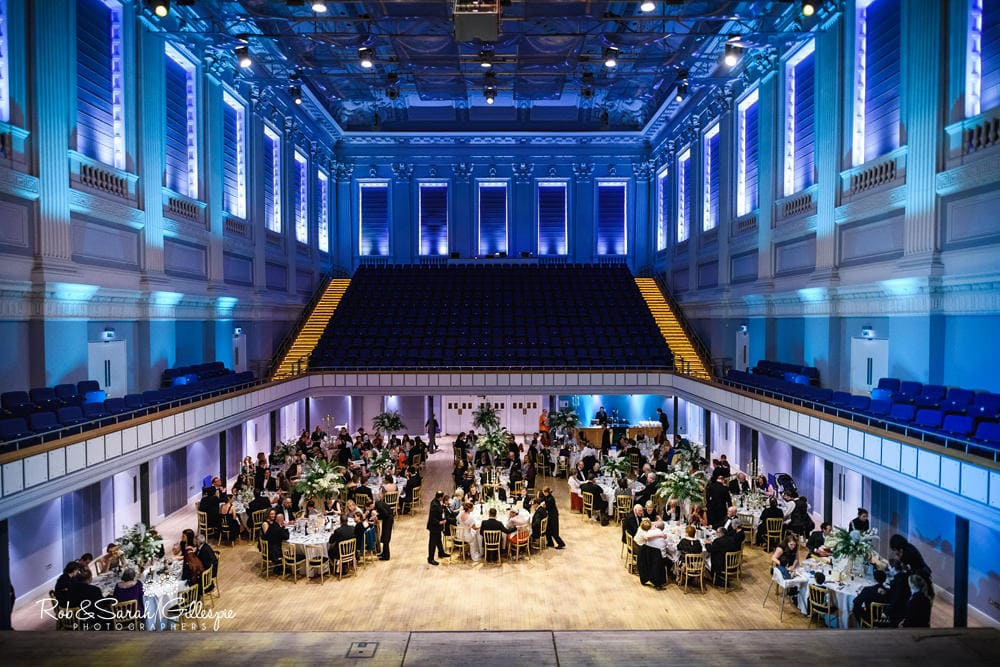 Wedding reception at Birmingham Town Hall