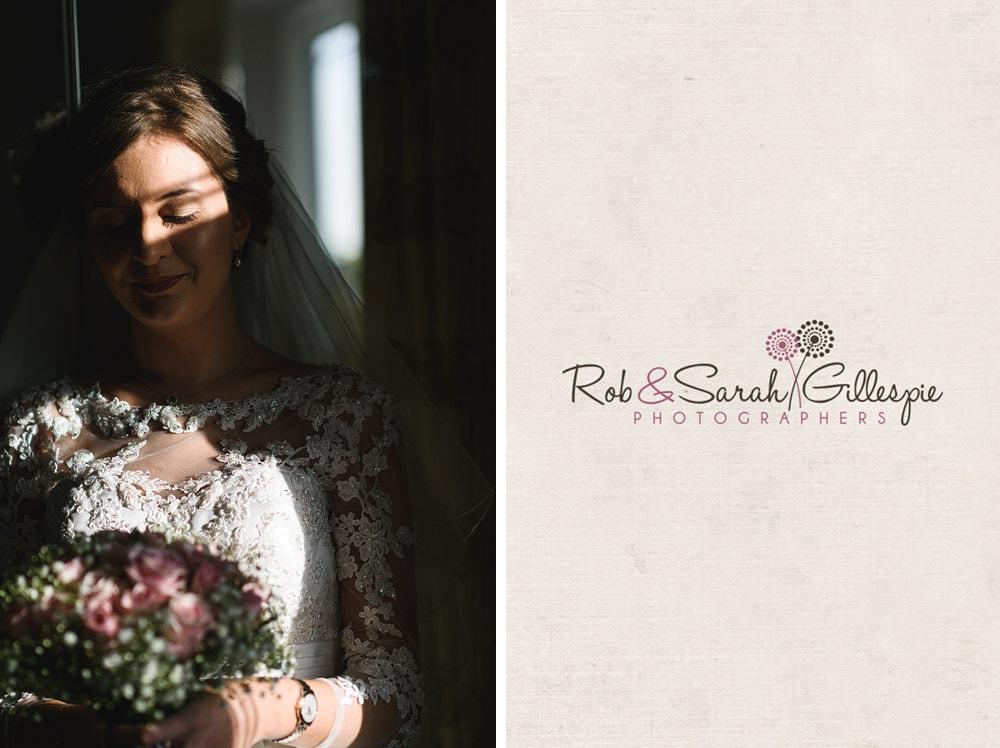 Portrait of bride in beautiful light
