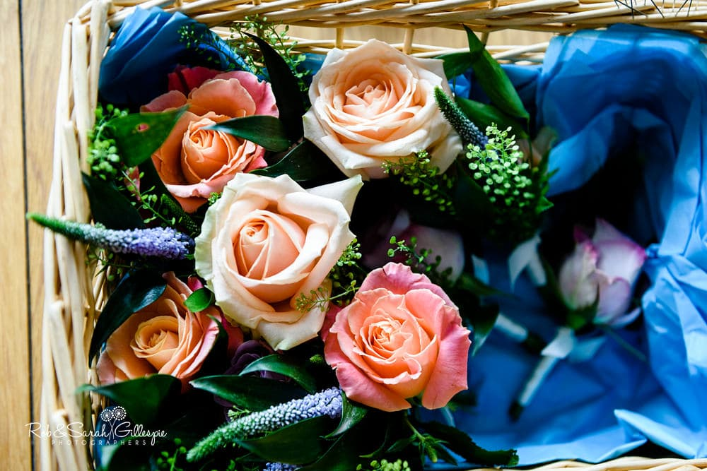 Groom's buttonhole flowers
