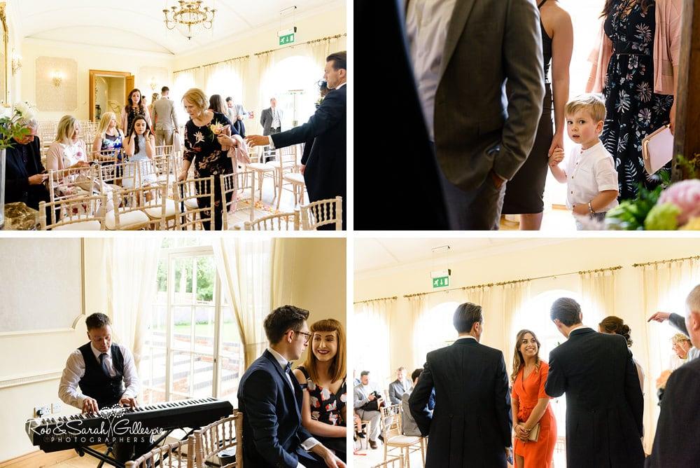 Wedding guests gather at Alrewas Hayes