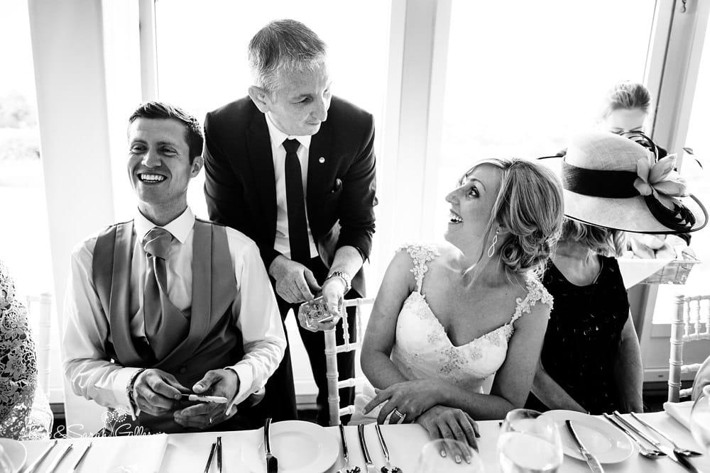Magician entertains wedding guests at Alrewas Hayes