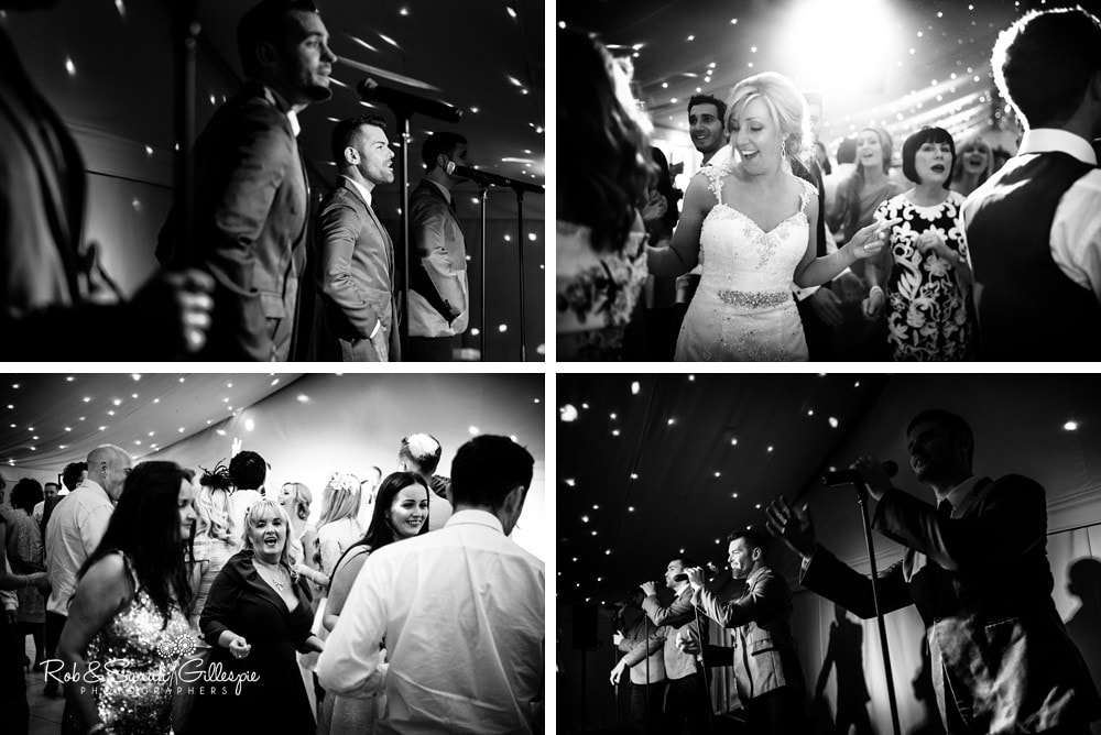 Jersey Boys entertain wedding guest at Alrewas Hayes