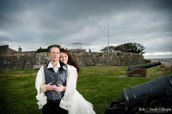 Bride & Groom at Fort Belan wedding