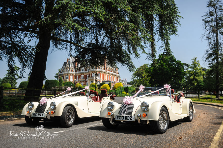 morgan wedding cars at chateau impney hotel
