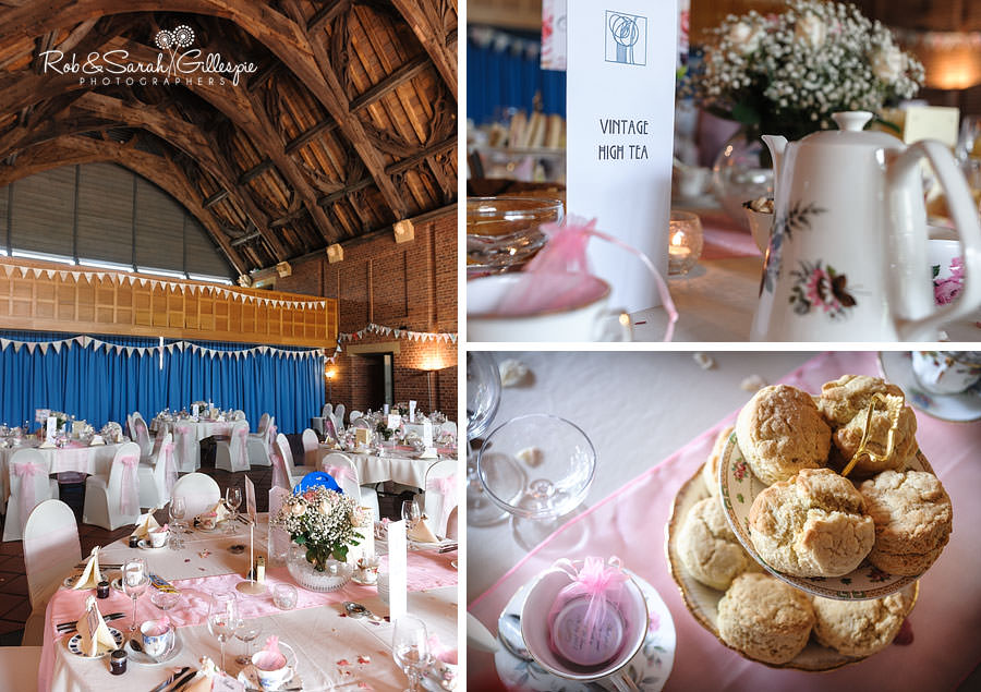 vintage wedding high tea at avoncroft museum