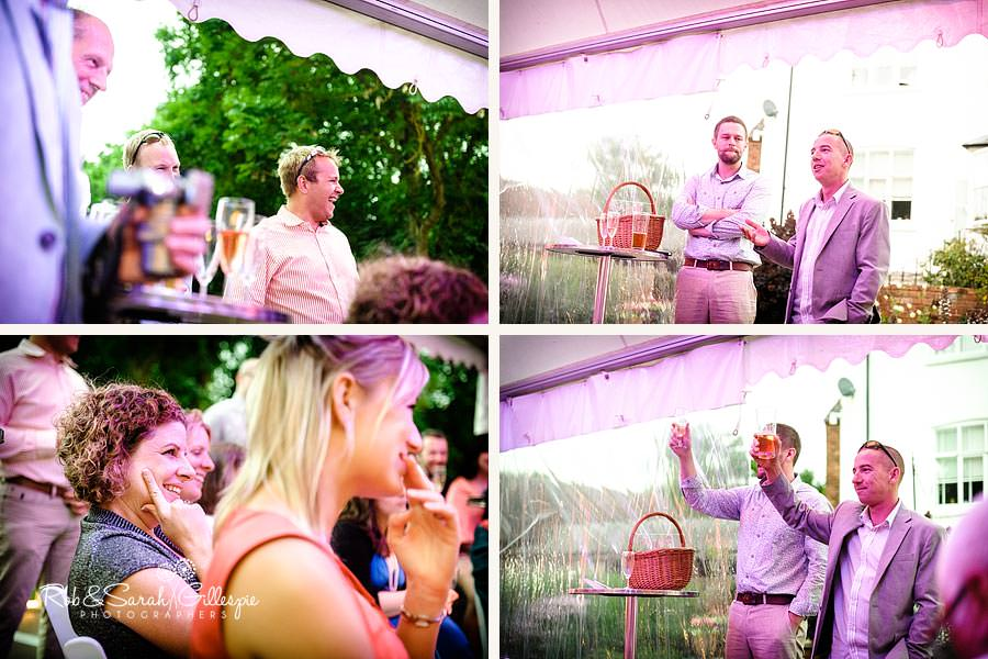 speeches at wedding in marquee