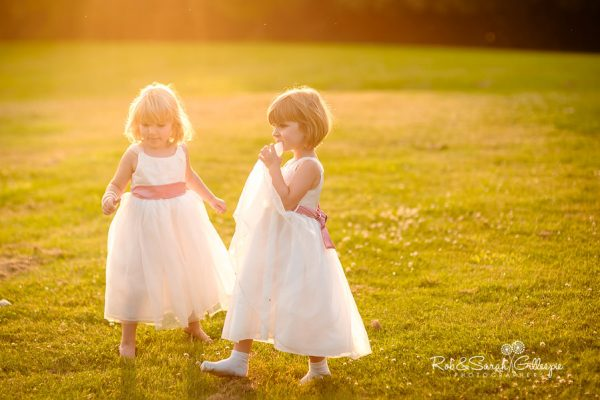 Flowergirls at Hagley Hall wedding