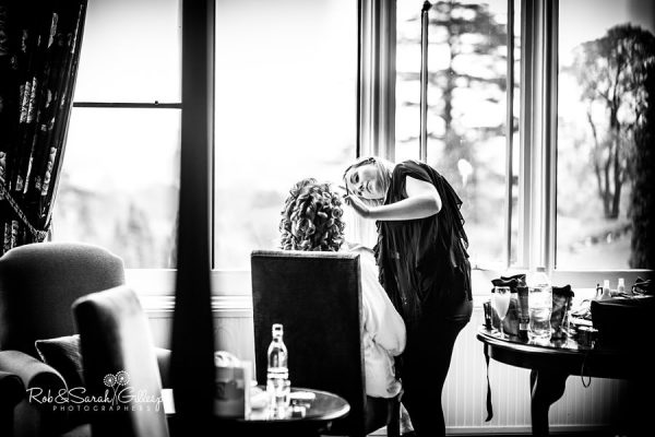 Bridal preparations at Welcombe Hotel Stratford-upon-Avon