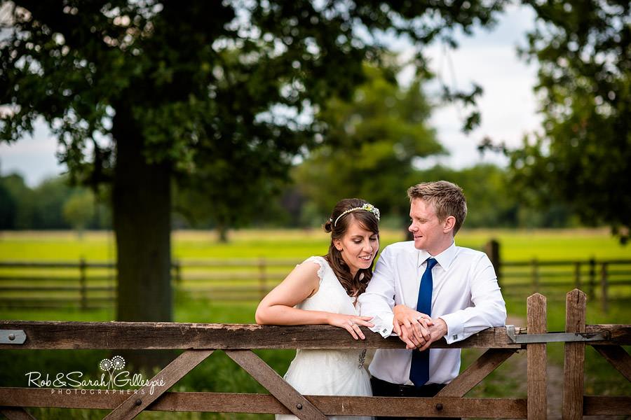Bride and groom at Sherbourne Park