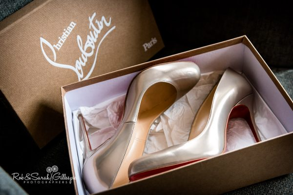 Wedding shoes at Welcombe Hotel