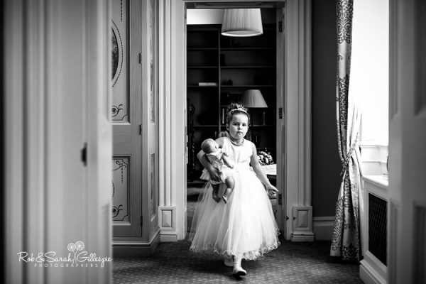 Flowergirl at Welcombe Hotel wedding