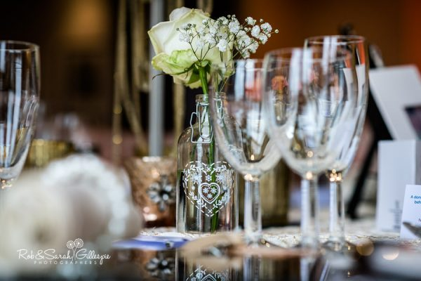 Welcombe Hotel wedding breakfast table details