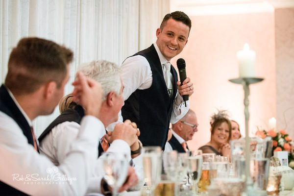Wedding speeches at Welcombe Hotel