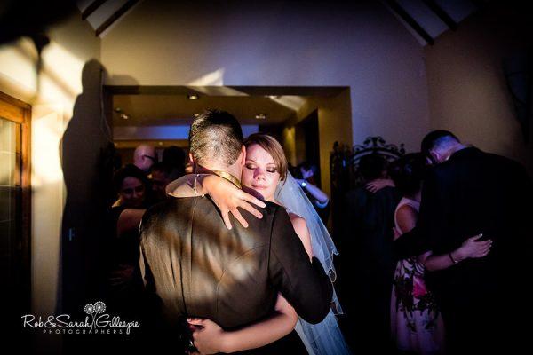 Bride and groom dancing at Nuthurst Grange
