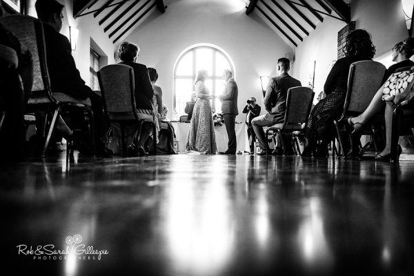 Civil wedding ceremony at Nuthurst Grange