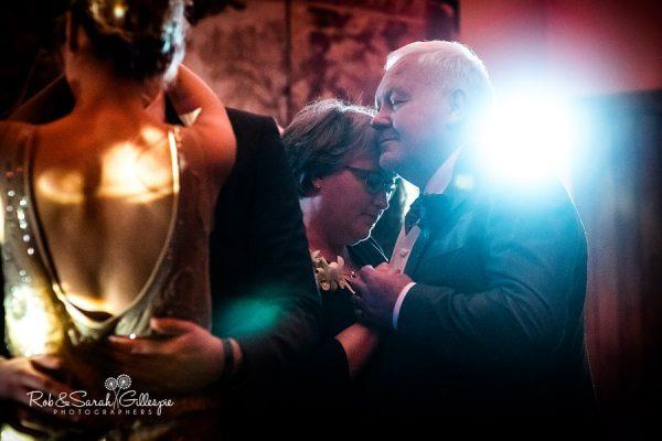 Wedding guests dancing at Nuthurst Grange