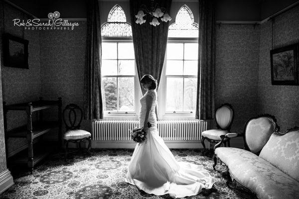 Bride portrait at Highbury Hall in Birmingham