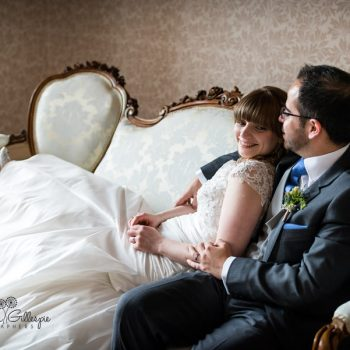 Bride and groom at Highbury Hall